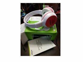 BLUEDIO HT BLUETOOTH WIRELESS HEADPHONE HEADSET CALLS FOR PHONE TABLET - WHITE