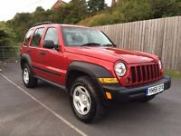 2006 55 Jeep Cherokee Sport 4x4 2.8 CRD Turbo Diesel *LOW MILES* Manual not shogun pajero land rover