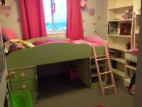 Girls dollhouse loft bunk bed