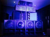 "18"" mini scoops bass Bins reggae club bar sound"