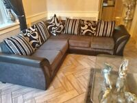 NEW SHANNON BLACK&GREY CORNER OR 3+2 SEATER AVAILBLE IN STOCK