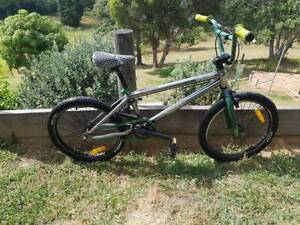"""20"""" Silver and Green Mongoose BMX Bike"""