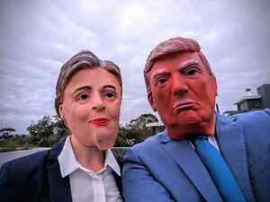 Hillary and trump Halloween masks Lane Cove North Lane Cove Area Preview