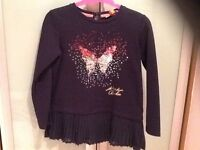 Ted baker long sleeve navy top, age 7/8