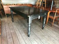 Painted Victorian Pine Dining Table