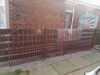 wrought iron gates very fancy 14ft wide 5ft high good solid gates £300 can deliver