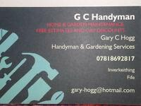HANDYMAN/JOINERY/GARDENING SERVICES - FIFE & KINROSS AREA