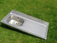 Kitchen sink - stainless steel, used, good condition