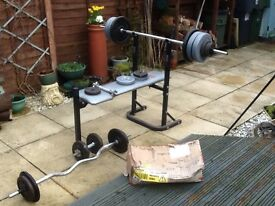 York Fitness Weightlifting set