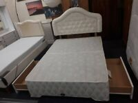 DOUBLE 2 drawer divan bed base LOW COST MOVES 2nd Hand Furniture STALYBRIDGE SK15 3DN