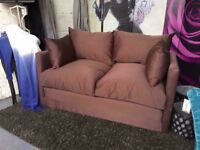 New 2 Seater Sofa - Sofa Bed Comes In A Brown Fabric