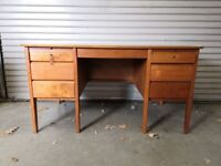 Desk - Solid sturdy hard wood, with Key (Carsons)
