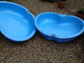 Childs sandpit or paddling pool.
