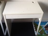 Ikea micke desk white with drawer