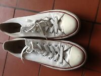 Converse All Stars white sneakers size 8 - £20