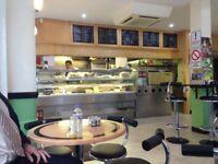 cafe restaurant chairs table equipment coffee machine dishwasher fridge freezer complete shop