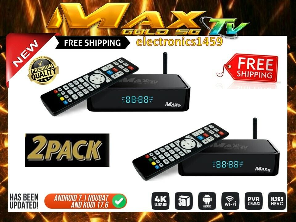 new 2 pack of max tv gold