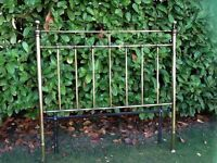 Double bed , attractive brass bed head board, excellent quality and conditions