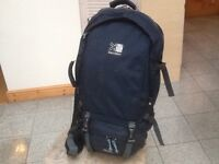 Rucksacks 50litres to 75litre capacity-3 available-all washed and cleaned- used but no damage