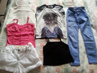 bundle of girl clothes 8-9 years