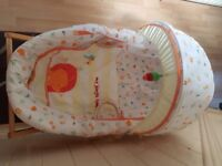Mothercare jungle friends moses basket with stand