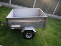 Trailer 4 x 3 camping trailer tilt bed . good tyres ready to use