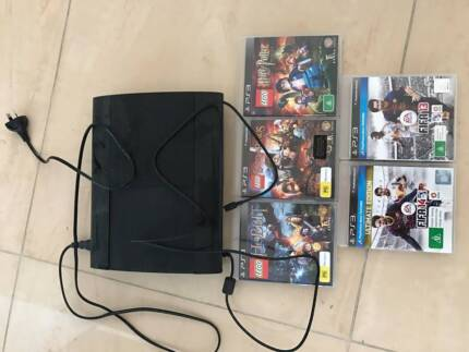 Sony Playstation black Charcoal with 5 games