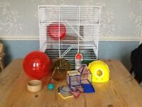 3 storey Hamster cage & accessories