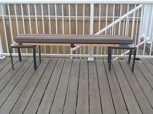 Camp ground picnic table bench set of cushions