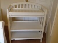 Perfect Condition, white Mamas and papas changing table