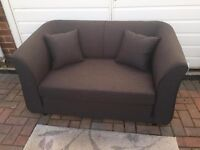 Kenster sofa bed brown mix fold out type new RRP £249