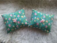 Mini posing pillow, newborn baby photography prop, tie back headband.