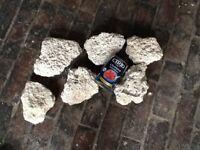 Tufa rock for aquarium landscaping, marine/malawi