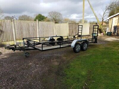 Twin axle trailer car trailer