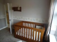 Mamas and Papas Oak Nursey furniture - COTBED / WARDROBE / CHANGING TABLE / TALLBOY + 2 MORE ITEMS