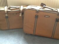 Set of two suitcases .