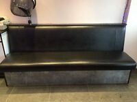 Leather-like/plastic reception seating
