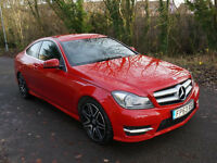 2013 MERCEDES-BENZ C250 CDI AMG SPORT BLUEEFFICIENCY COUPE AUTOMATIC RED