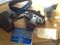 Olympus OM10 35mm Film Camera Body and 50mm F1.8 Zuiko Lens