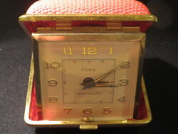 VINTAGE WESTCLOX FOLDING TRAVEL ALARM CLOCK WIND UP MADE IN GERMANY NOS