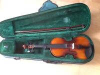 3/4 size violin with case.