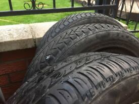 165/60R14 75H tyre. 3 of them in good condition.