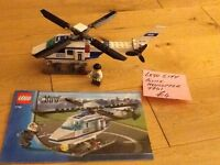 LEGO CITY POLICE HELICOPTER & x2 CHARACTERS, NO 7741