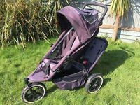 Phil and Teds Double Tandem Twin Buggy Stroller Pushchair bundle with loads accessories