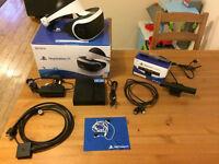 Playstation VR Headset and Playstation Camera