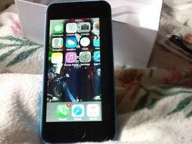 iPhone 5c 8gb blue for repair.