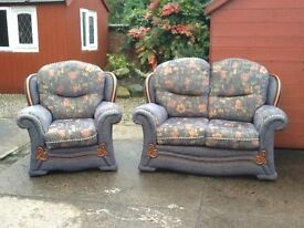 Dralon fabric suite 2 seater and 1 chair like brand new condition £99 can deliver locally