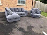 Sale on brand new dylan jumbo cord corner and 3+2 seater sofa