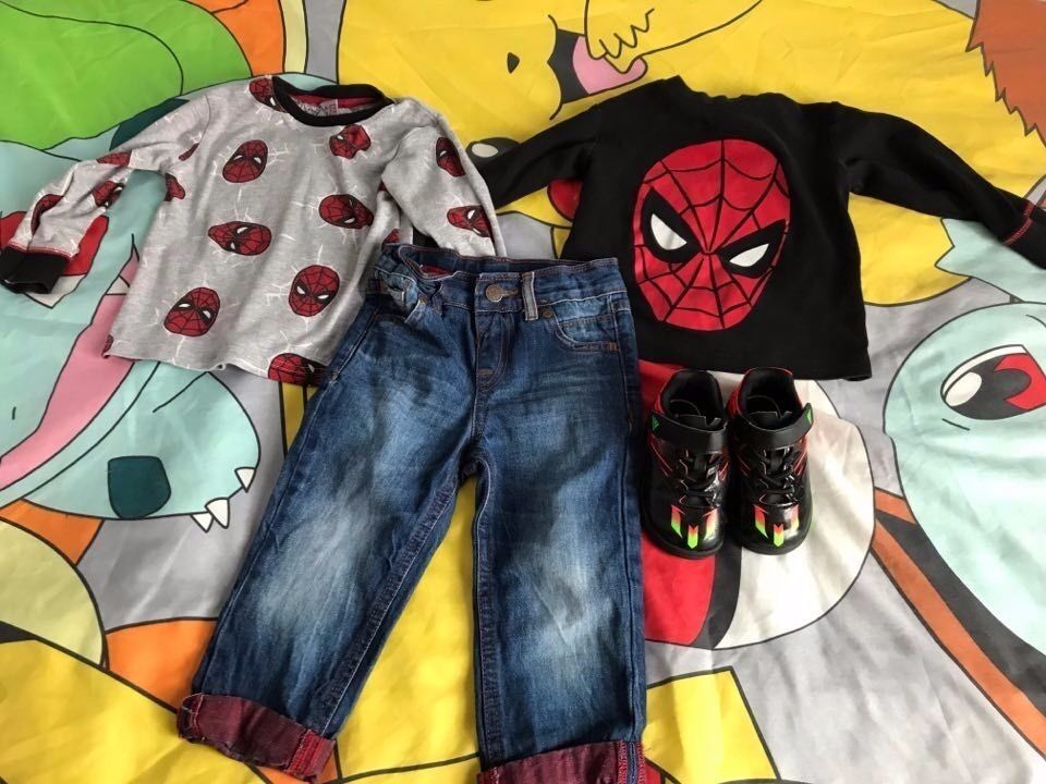 BARGAIN INFANT SIZE 5 MESSI ADIDAS TRAINERS2 18 24 MONTHS NEXT SPIDERMAN TOPSM S JEANSin Penny Lane, MerseysideGumtree - LIKE NEW INFANT UK SIZE 5 MESSI ADIDAS TRAINERS 2 X SIZE 18 24 MONTHS NEXT SPIDERMAN TSHIRTS 1 X SIZE 18 24 MONTHS M S JEANS £4 FOR EVERYTHING PICK UP ONLY