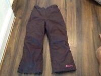 Girls Trespass Waterproof Trousers (Fleece Lined). age 9-10. Bargain £5